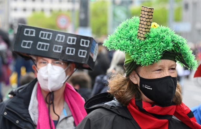 Tausende protestieren in Berlin gegen steigende Mieten (© 2021 AFP)