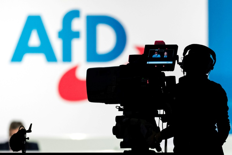 AfD zieht mit Spitzenduo Weidel-Chrupalla in den Wahlkampf (© 2021 AFP)