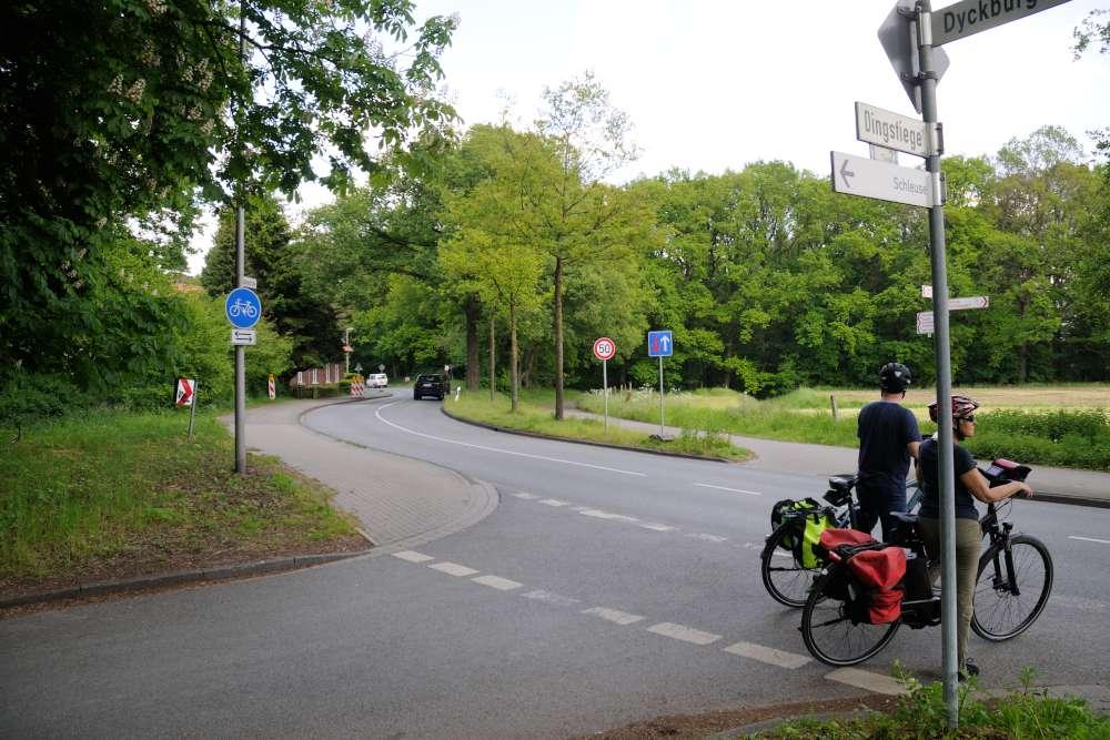 An der Dyckburgstraße / Dingstiege soll das Überqueren der Straße komfortabler und sicherer werden. (Foto: Stadt Münster)