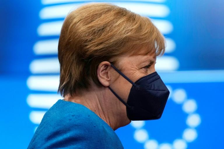 Merkel sagt karitativen Organisationen Hilfe für die Zeit nach der Pandemie zu (© 2021 AFP)
