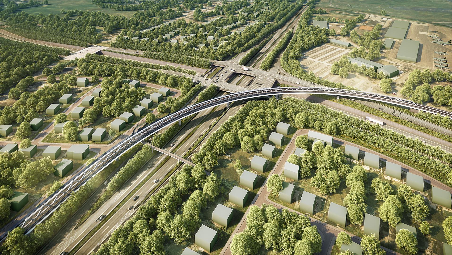 Die Stadtbahn U81 wird den Nordstern mit Hilfe einer Brücke überqueren (Foto: Reinhart Partner - Architekten und Stadtplaner)