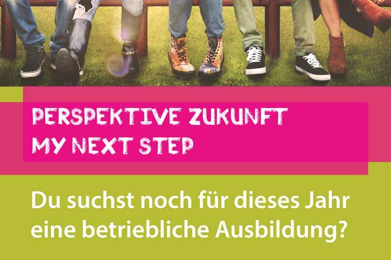 """Plakat """"My next Step"""". (Foto: Stadt MG)"""