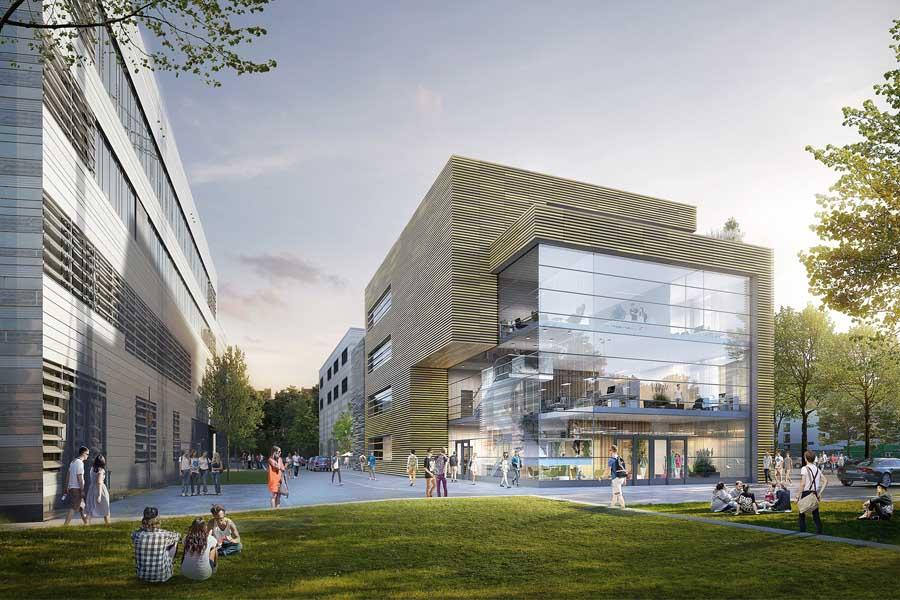 Das künftige Gebäude des ZDD am Campus der Hochschule Düsseldorf (Foto: Architekturbüro RKW Architektur+)