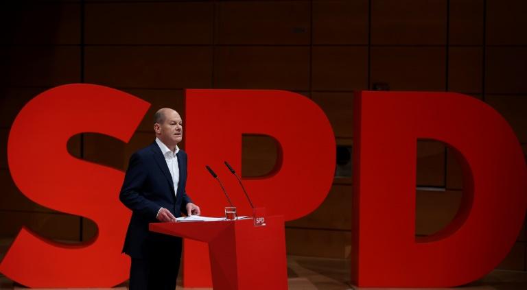 SPD-Kanzlerkandidat Scholz will sich für Ostdeutschland stark machen (© 2021 AFP)