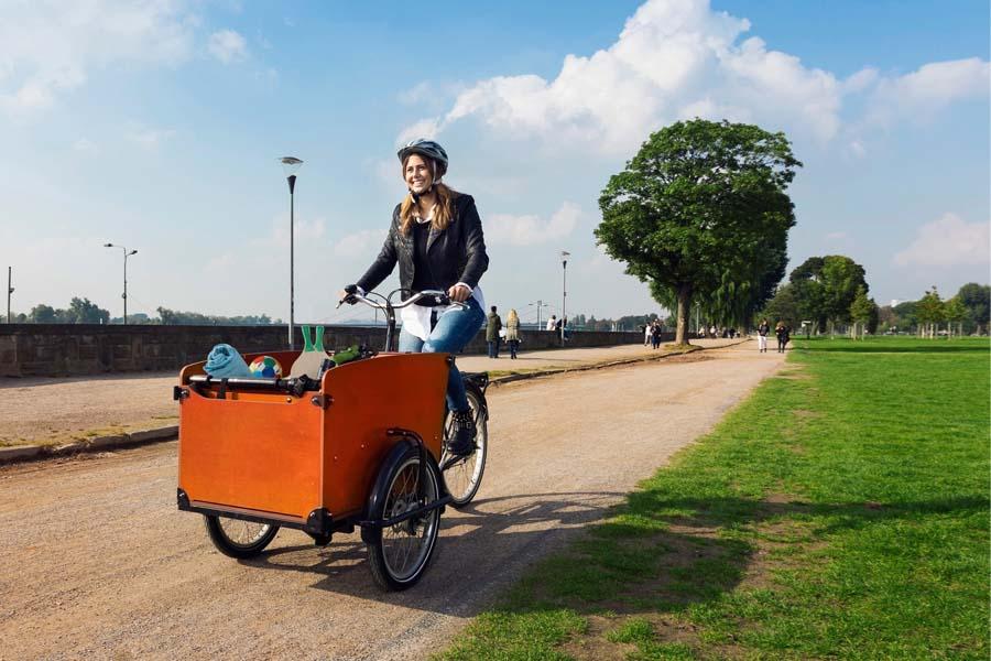Lastenräder wie dieses werden ab Juni von der Landeshauptstadt Düsseldorf gefördert (Foto: Stadt  Düsseldorf, Umweltamt)