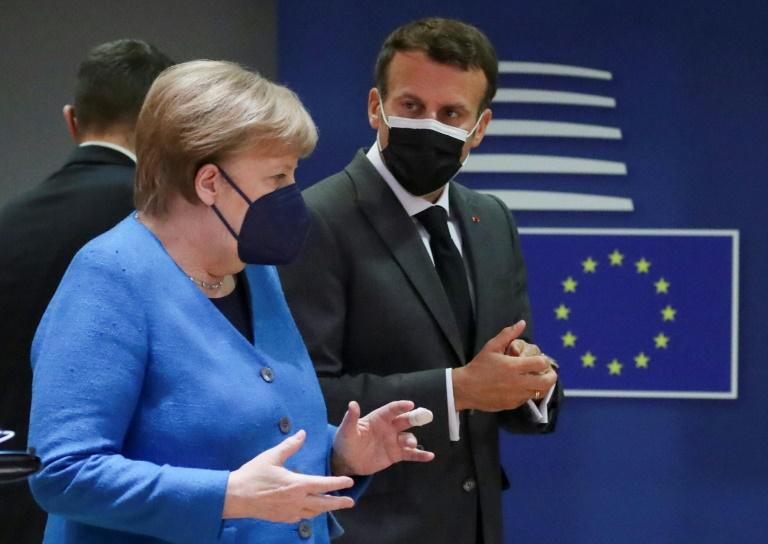 """Berlin zieht """"sehr positive"""" Bilanz von vier Jahren Merkel und Macron (© 2021 AFP)"""