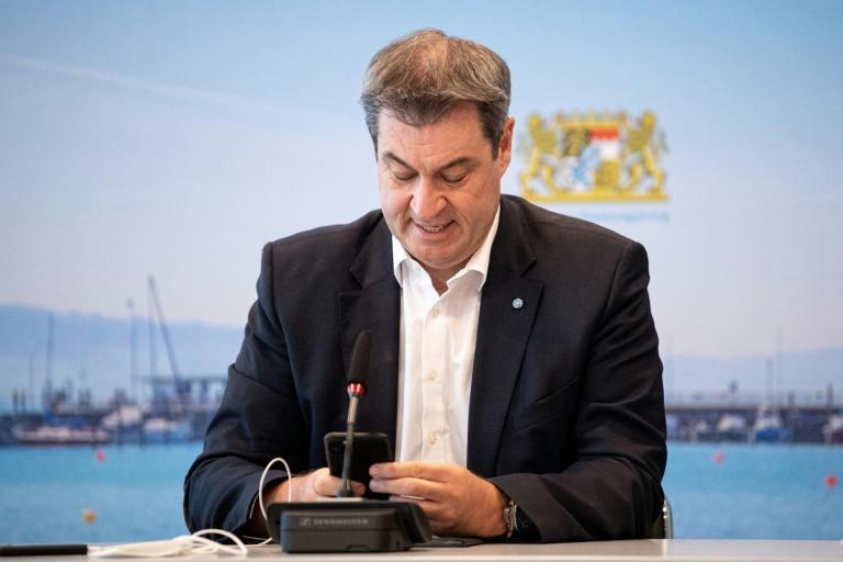 """Söder: """"Die Union hat beste Chancen, das Kanzleramt wieder zu erobern"""" (© 2021 AFP)"""
