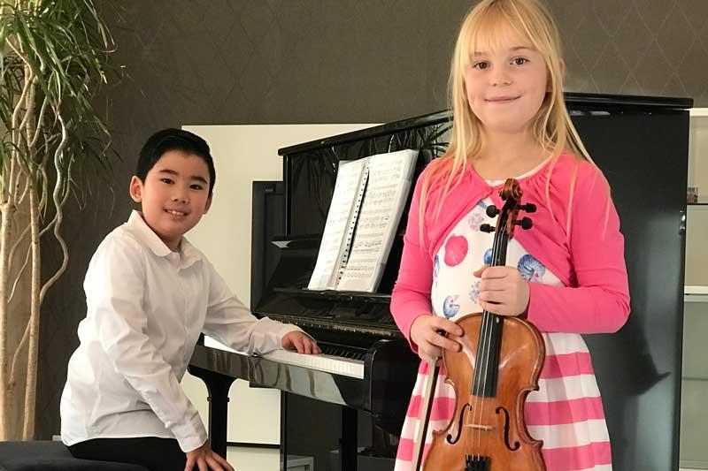 Phi-Long du Quoc und Miriam Speer erhielten gemeinsam einen 1. Preis mit 23 Punkten in der Altersgruppe Ib. (Foto: Kreis Viersen)