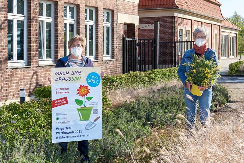 """Unter dem Motto """"Mach was draussen!"""" rufen die Städte Gelsenkirchen und Herten gemeinsam zum Vorgartenwettbewerb auf. (Foto: Martin Schmüdderich)"""