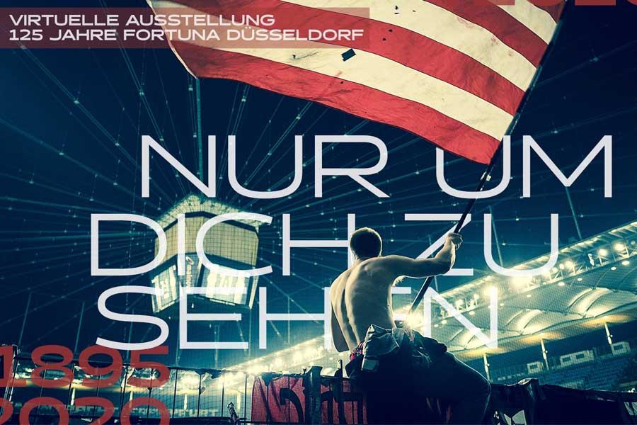 """Virtuelle Rathaus-Fotoausstellung """"NUR UM DICH ZU SEHEN - 125 Jahre Fortuna Düsseldorf"""" (Foto: Patrick Jelen)"""