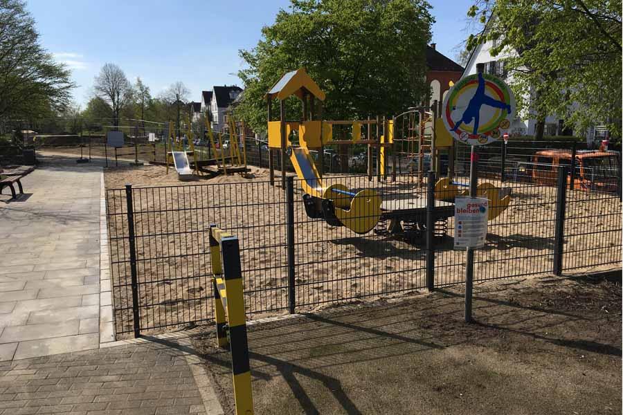 Der umgebaute Kinderspielplatz an der Gutenbergstraße in Grafenberg (Foto: S)