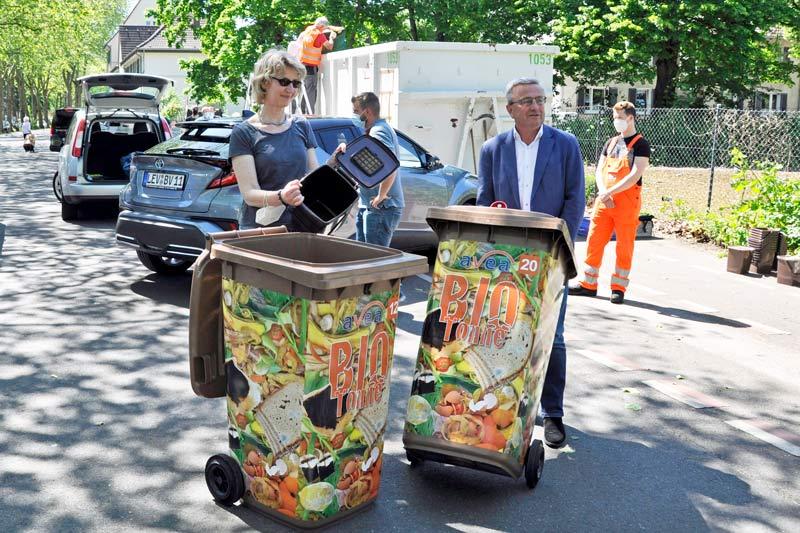 Bringsystem für Bioabfall. (Foto: Stadt Leverkusen)