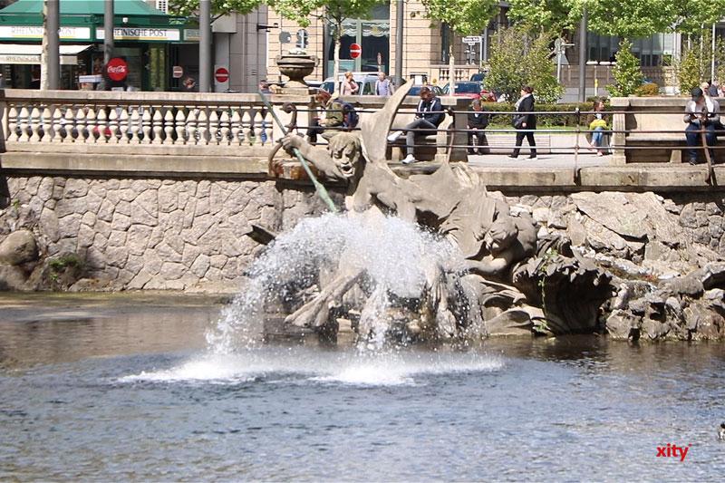 Sanierung des Tritonenbrunnens abgeschlossen. (Foto: xity)