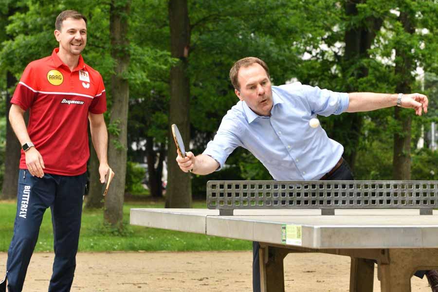 """Breitensport-Kampagne """"Düsseldorf spielt Tischtennis. Für Düsseldorf."""" gestartet (Foto: MaJo-Foto)"""