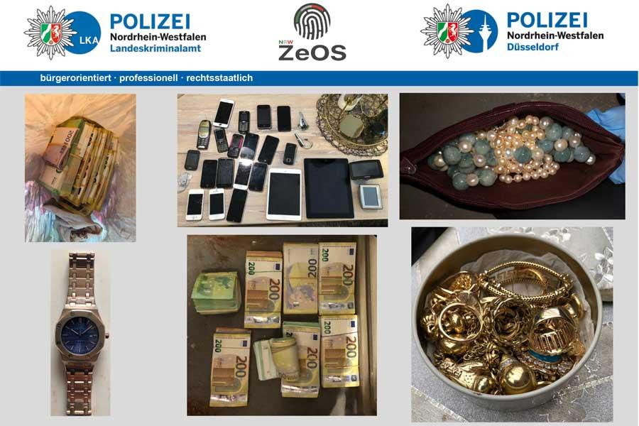 Schlag gegen Clankriminalität in NRW (Foto: Polizei Düsseldo)
