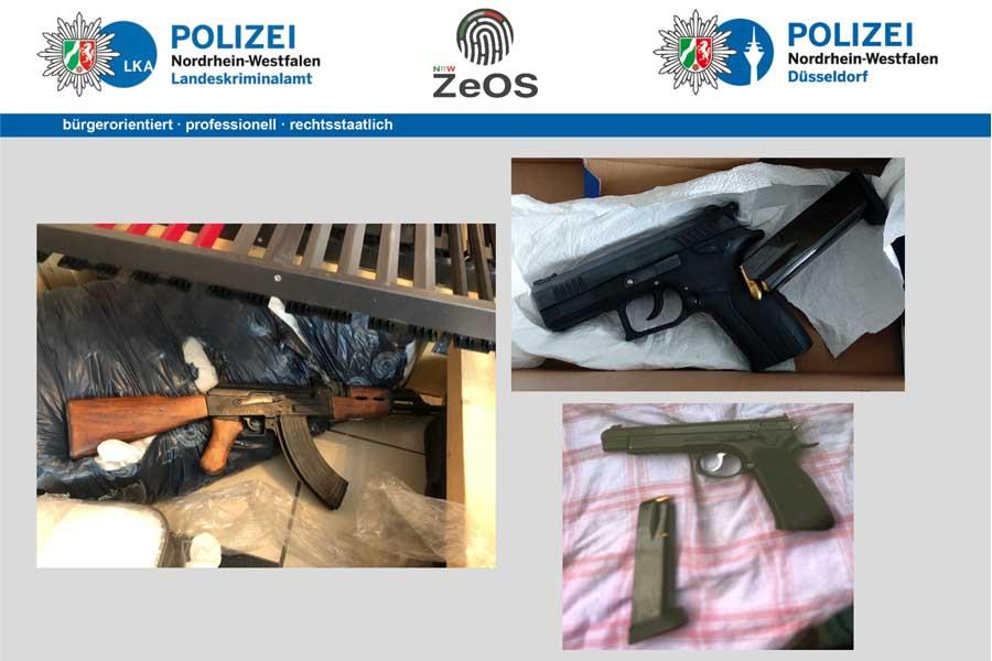 Wertgegenstände und Beweismittel sichergestellt (Foto: Polizei Düsseldo)