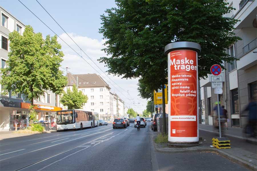 Düsseldorf startet neue Anti-Corona-Kampagne in sechs Sprachen (Foto: Düsseldorf Marketing)