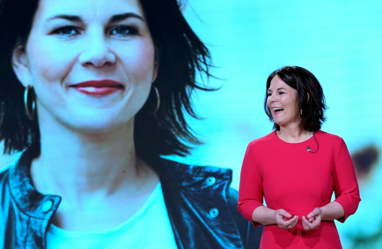 Annalena Baerbock offiziell zur Grünen-Kanzlerkandidatin gekürt (© 2021 AFP)
