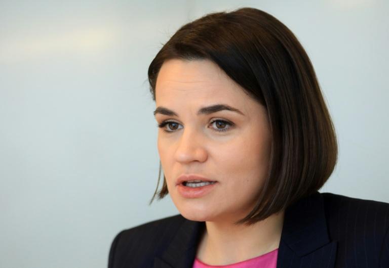 Tichanowskaja zu Gast bei Grünen-Parteitag in Berlin (© 2021 AFP)