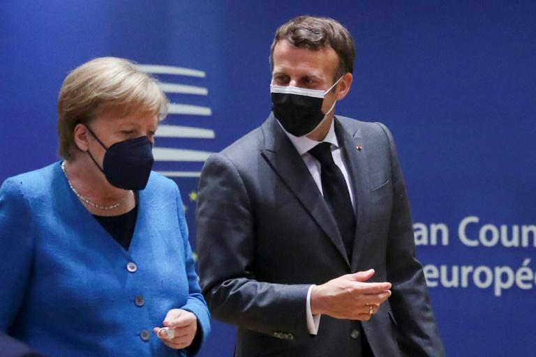 Merkel empfängt am Freitag Macron in Berlin (© 2021 AFP)