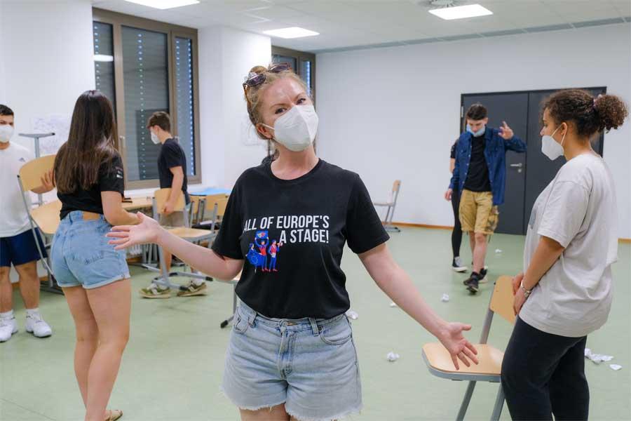 Städtepartnerschaftliches Jugendtheaterprojekt zwischen Reading und Düsseldorf (Foto: Stadt Düsseldorf/Michael Gstettenbauer)