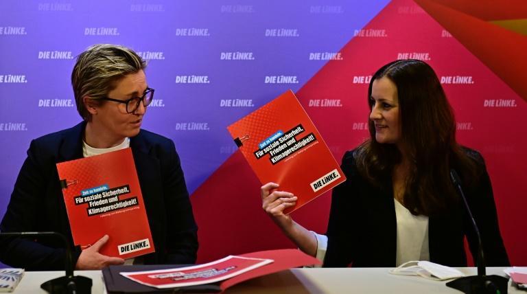 Wissler und Hennig-Wellsow gegen Parteiausschluss von Wagenknecht (© 2021 AFP)