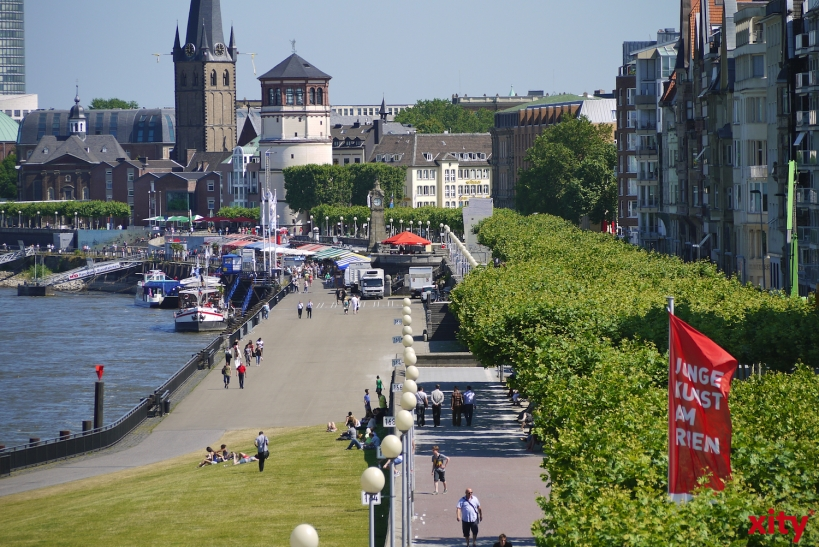 Düsseldorf: Zufahrt zum Mannesmannufer am Wochenende gesperrt(Foto: xity)