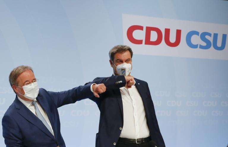 Söder sichert Laschet volle Unterstützung im Wahlkampf zu (© 2021 AFP)