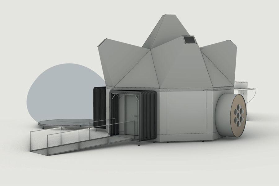Modell des UFO von Raumlabor Berlin (Foto: Raumlabor Berlin)