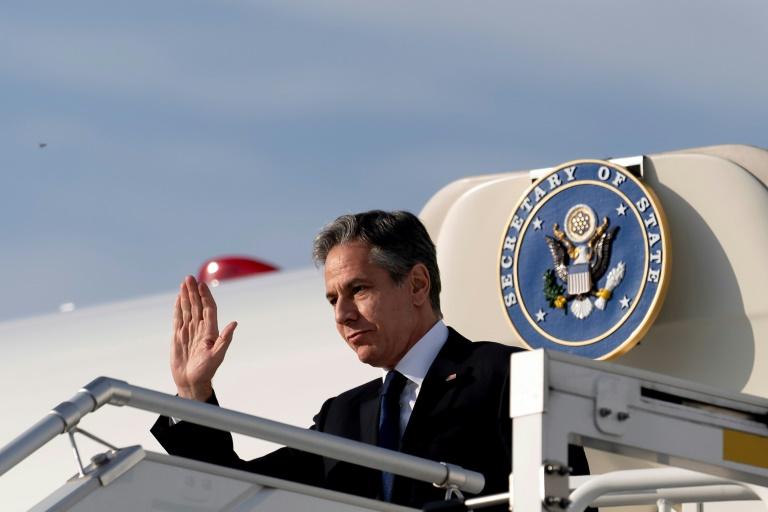 US-Außenminister Blinken zu Antrittsbesuch in Berlin eingetroffen (© 2021 AFP)