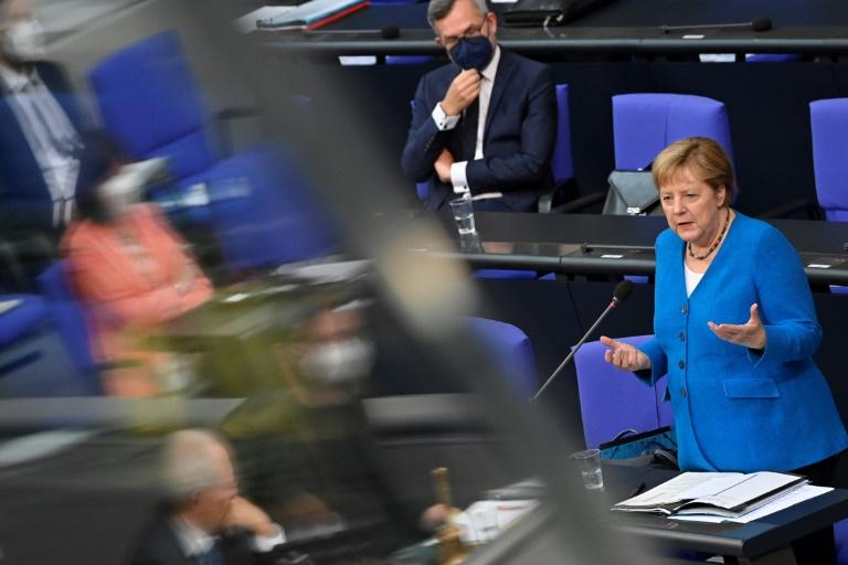 """Merkel über ihre Klimabilanz: """"Genug ist es nicht"""" (© 2021 AFP)"""