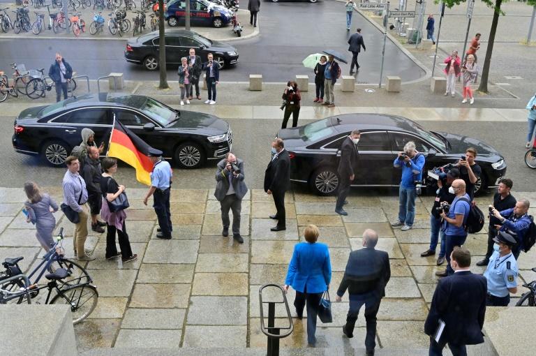 Merkel hält ihre voraussichtlich letzte Rede im Bundestag (© 2021 AFP)