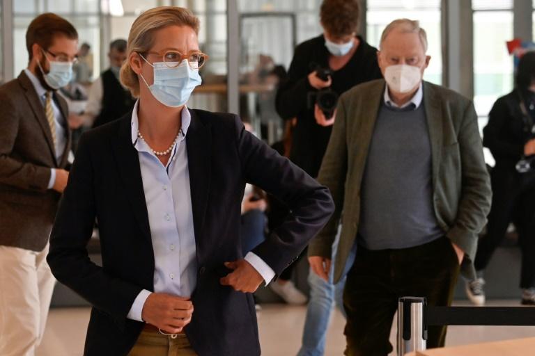 Weidel reagiert mit scharfer Kritik auf Regierungserklärung Merkels (© 2021 AFP)