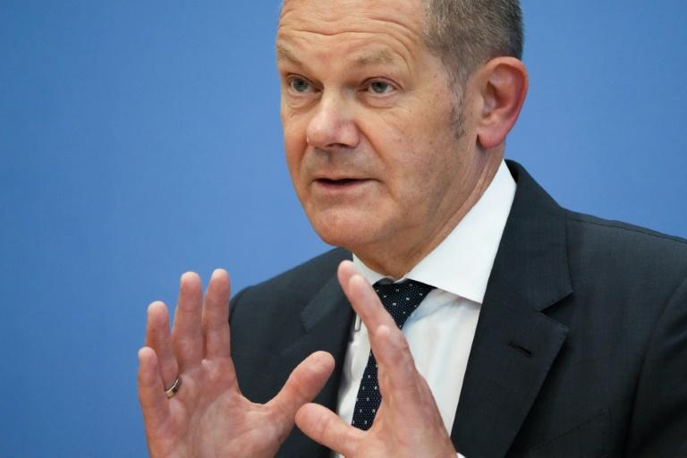 """Scholz kritisiert """"Kassensturz""""-Äußerung von Laschet (© 2021 AFP)"""