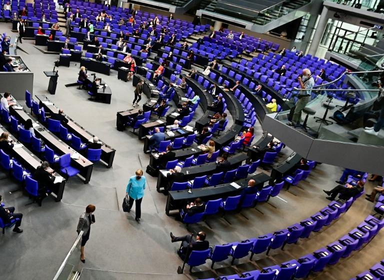 Merkel nimmt mit Bekenntnis zu Europa Abschied vom Bundestag (© 2021 AFP)