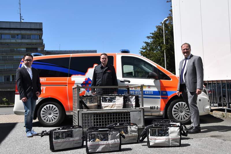 Beatmungsgeräte für Irak und Sudan. (Foto: Ennepe-Ruhr-Kreis)