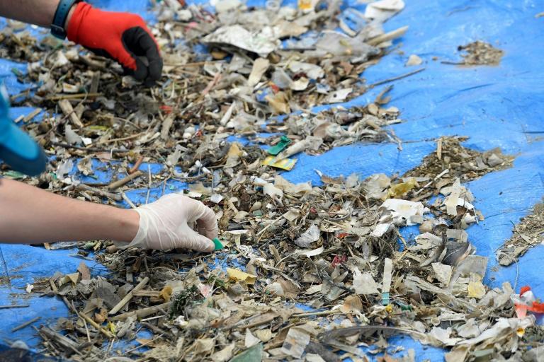 Anteil an recyceltem Plastik in Kunststoffverpackungen bei 5,8 Prozent (© 2021 AFP)