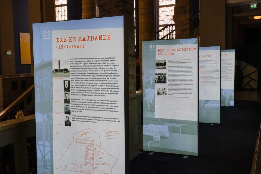Zwei Ausstellungen zum Düsseldorfer Majdanek-Prozess (Foto: Stadt Düsseldorf/Michael Gstettenbauer)
