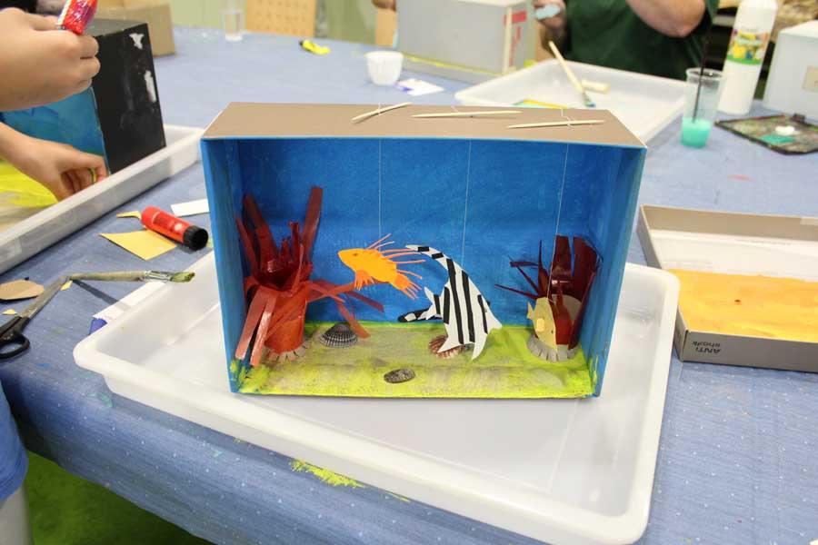 Im Aquazoo dürfen die jungen Forscherinnen und Forscher vielfältig kreativ werden (Foto: Stadt Düsseldorf/Aquazoo Löbbecke Museum)