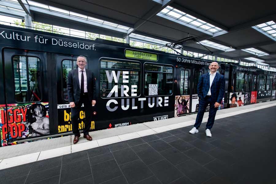 Klaus Klar, Vorstandsvorsitzender und Arbeitsdirektor der Rheinbahn und Michael Brill, Geschäftsführer D.Live (Foto: D.Live/Rheinbahn)