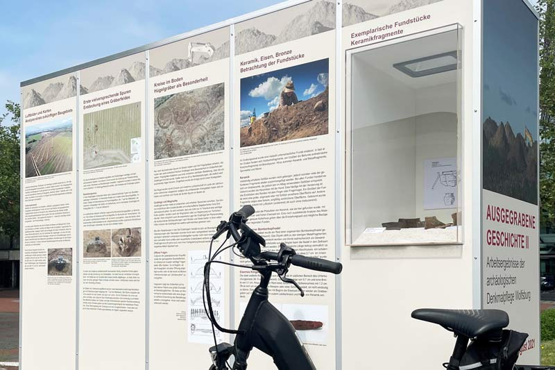 Radtour Archäologie-Ausstellung. (Foto: Stadt Wolfsburg)