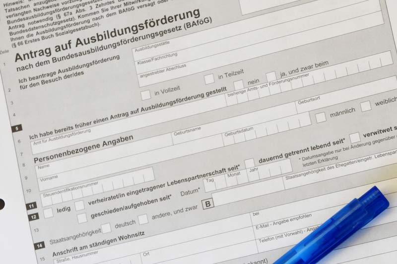 Antrag auf Bafög. (Foto: UvK/Ennepe-Ruhr-Kreis)