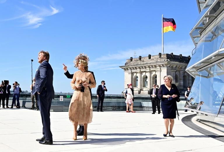 Niederländisches Königspaar besucht Bundestag (© 2021 AFP)