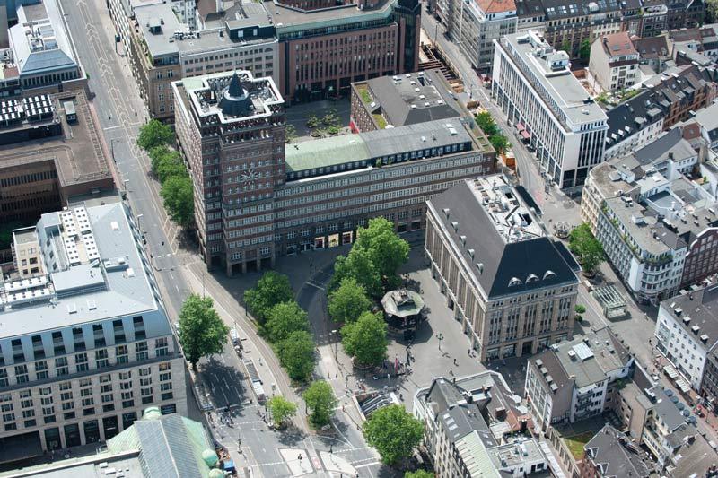 Der Heinrich-Heine-Platz im Herzen Düsseldorfs soll umgestaltet werden. (Foto: Stadt Düsseldorf)