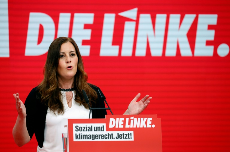 """Wissler: """"Linke muss Vielstimmigkeit überwinden"""" (© 2021 AFP)"""