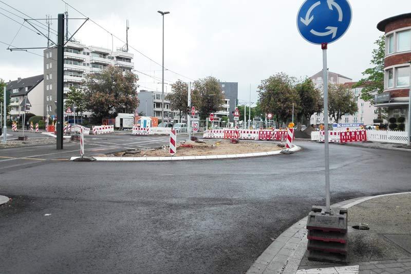 Aachener Straße zum Teil gesperrt. (Foto: Stadt Düsseldorf)