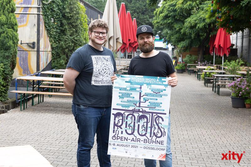 Jan Philipp Zymny und Kurator Patrick Salmen. (Foto: xity)