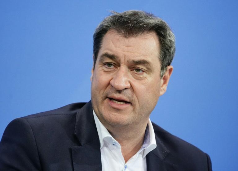Söder sieht Grüne nicht mehr als Konkurrenz um Platz eins bei Bundestagswahl (© 2021 AFP)