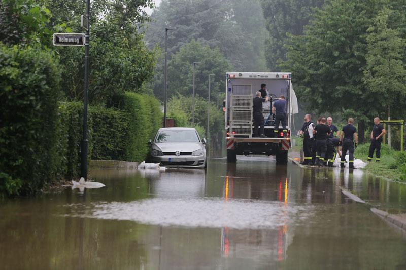 Ostpark-Siedlung ist überflutet. (Foto: Stadt Düsseldorf)