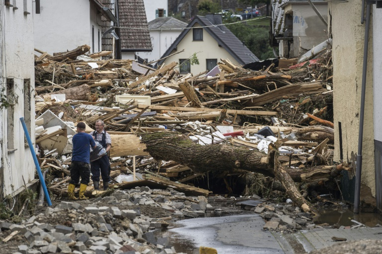 Zahl der Unwettertoten in NRW und Rheinland-Pfalz auf mindestens 45 gestiegen (© 2021 AFP)